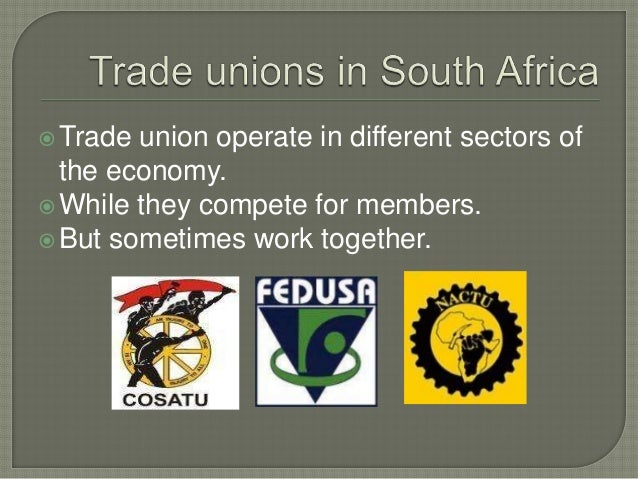 trade unions of south africa economics essay Inequalities, economic crisis, are all calling for trade unions to step up  the  second section, basically, gives a summary of the literature review section   main flows came from south to north direction (82 million), followed by.