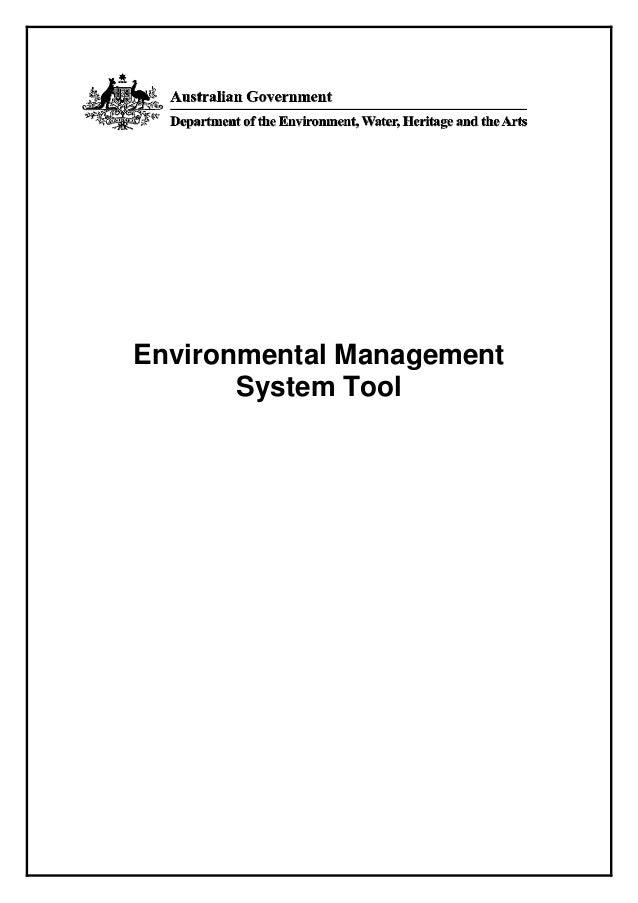 Environmental Management       System Tool