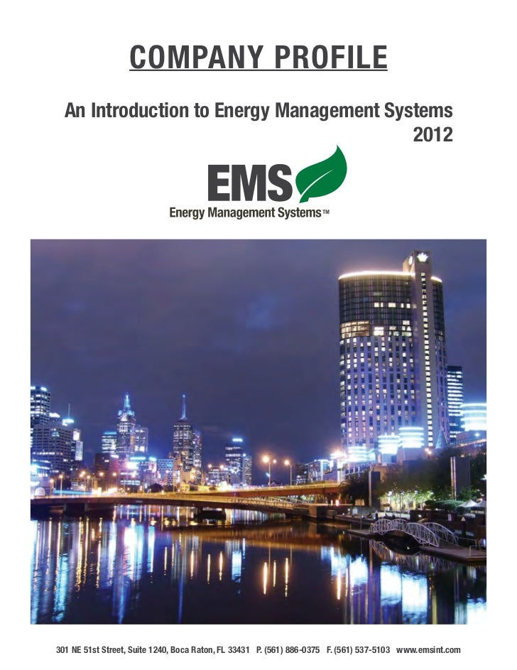 Company Profile  An Introduction to Energy Management Systems      									                           2012301 NE 51st Str...