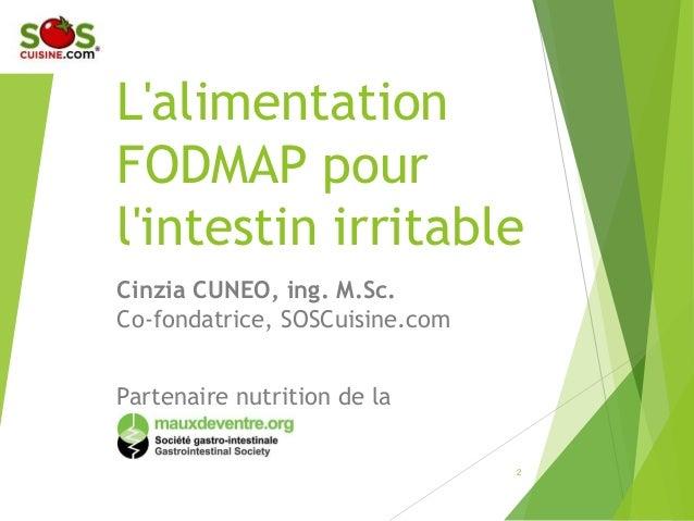 Conf 233 Rence Alimentation Faible En Fodmaps