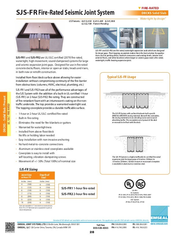 Emseal Expansion Joint And Precompressed Sealant Catalog