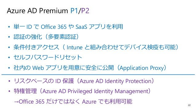 23 Microsoft Intune • モバイルデバイス管理(MDM) • アプリの保護(MAM) • デバイスのアクセス制御