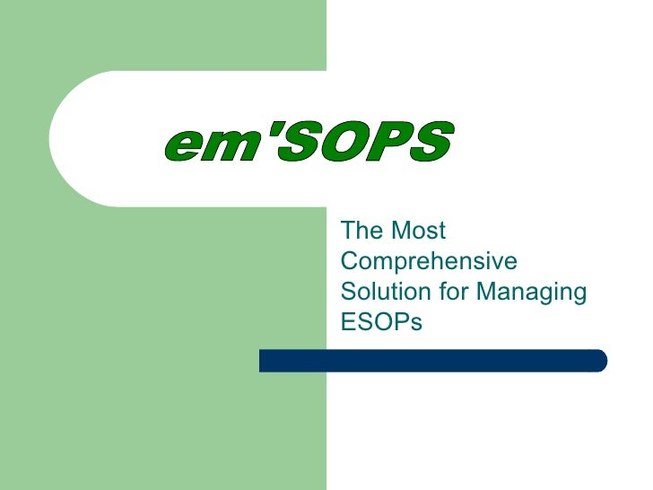 The MostComprehensiveSolution for ManagingESOPs