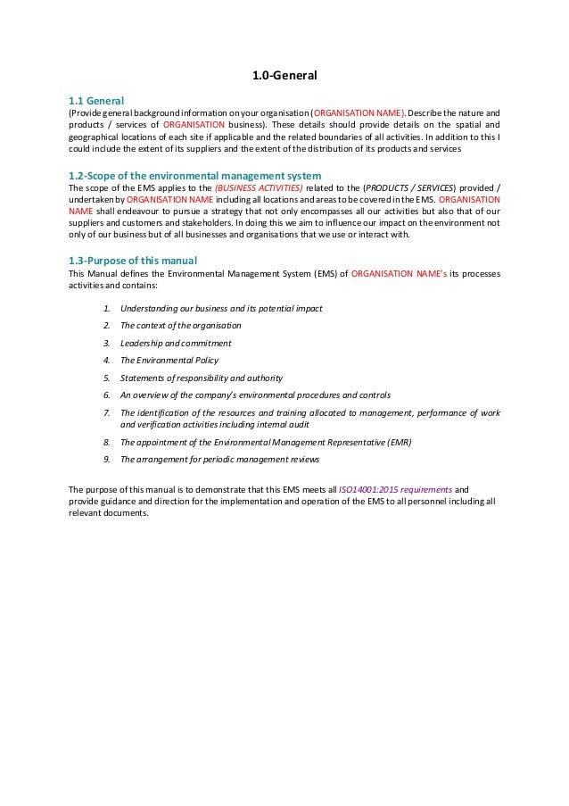 1.0-General 1.1 General (Provide general background information on your organisation (ORGANISATION NAME). Describe the nat...