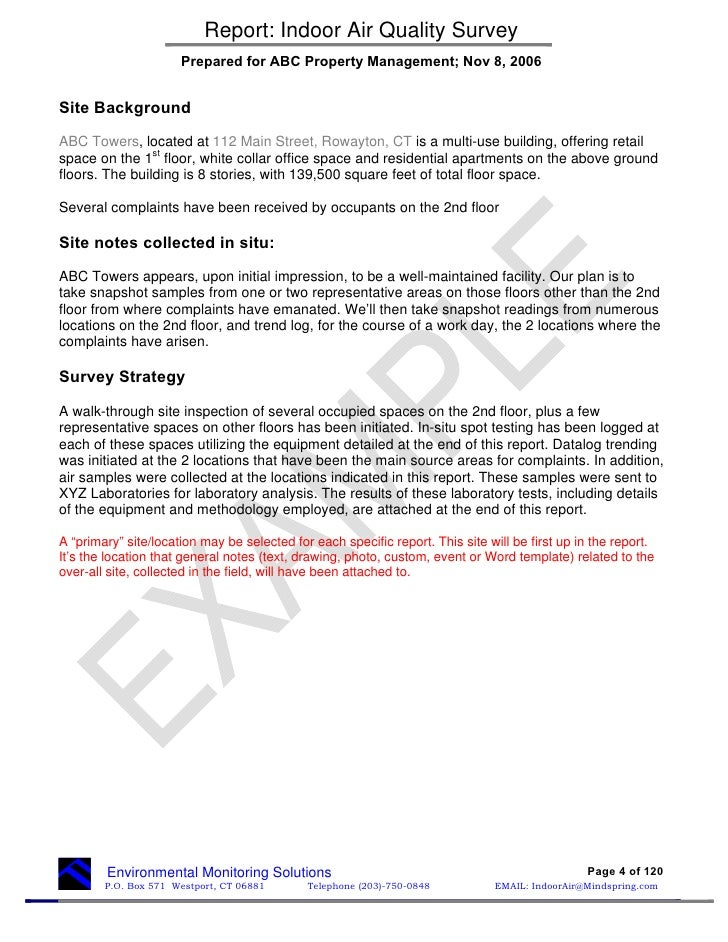 technical report format word