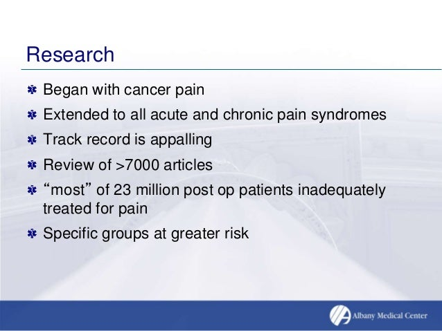 Management Of Pain, Cancer Network