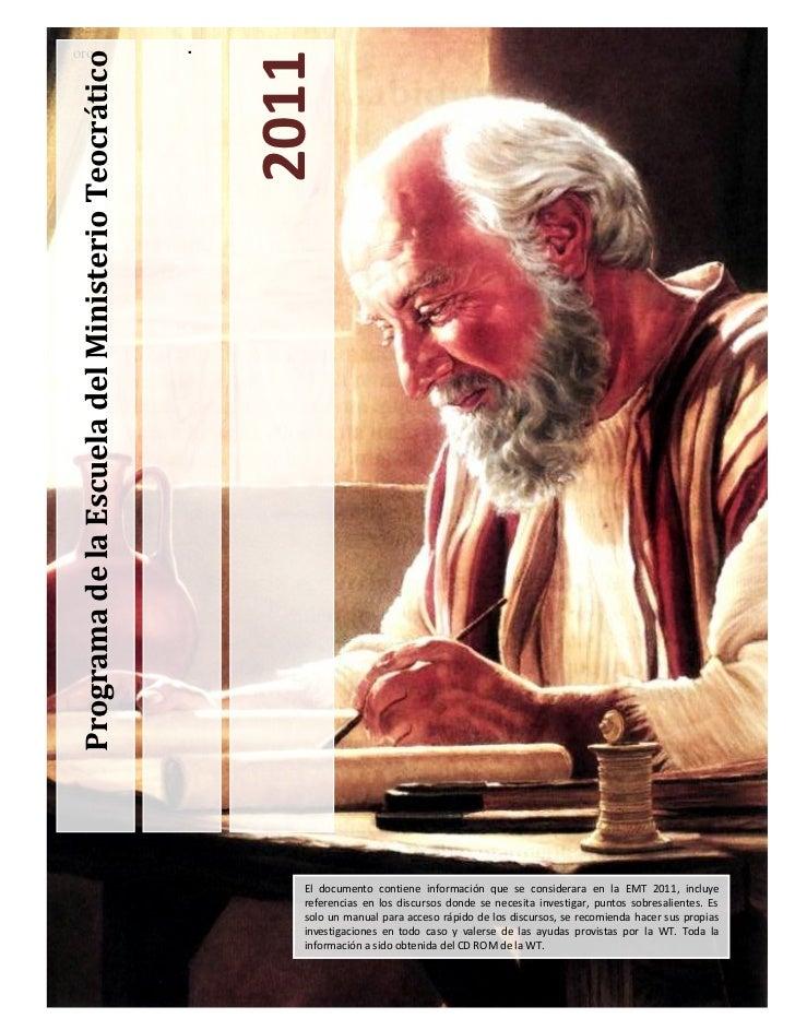 oro                                                   .Programa de la Escuela del Ministerio Teocrático                   ...