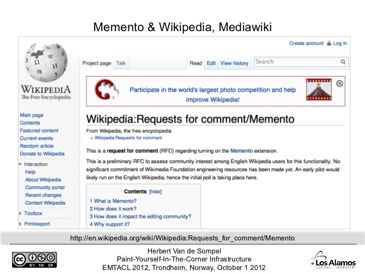 Memento & Wikipedia, Mediawikihttp://en wikipedia org/wiki