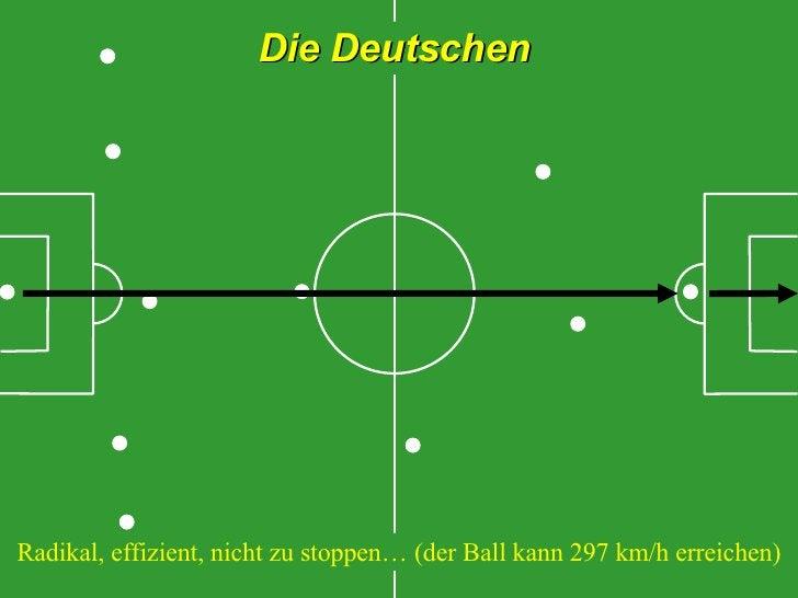 Die Deutschen Radikal, effizient, nicht zu stoppen… (der Ball kann 297 km/h erreichen)