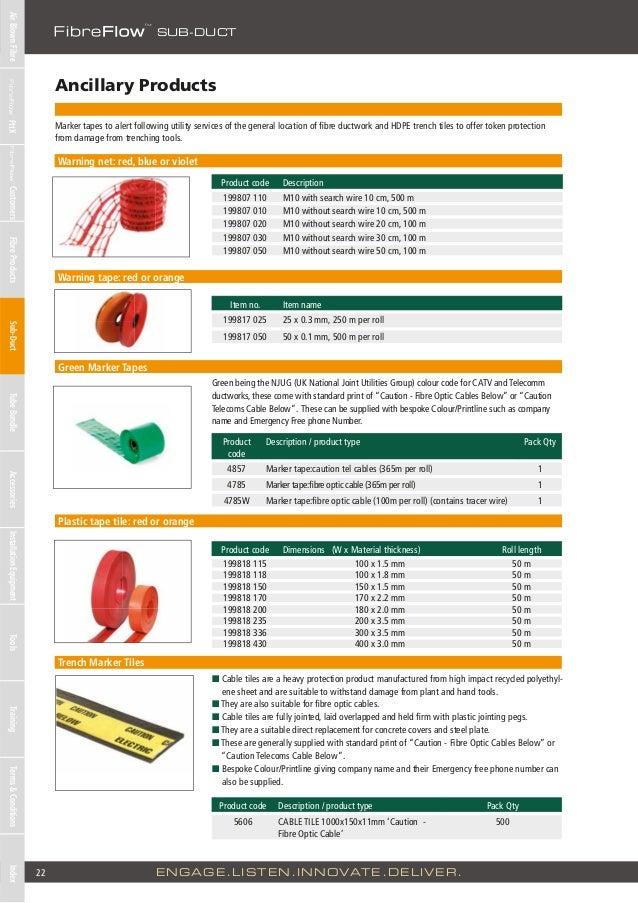 Emtelle fibreflow cable ducts product catalogue