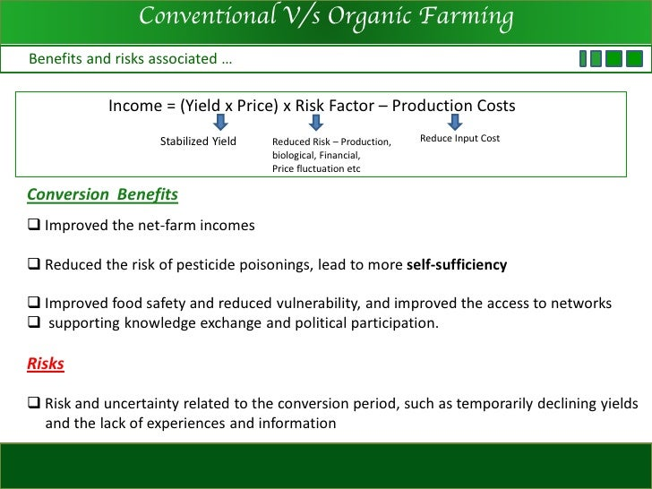 organic and conventional farming essay As such, many different types of farming have come into existence two of these  are organic farming and industrialized farming need essay.