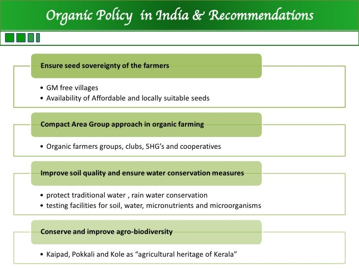 thesis on organic farming in india Yield and economic performance of organic and conventional cotton-based farming systems – results from a field trial in india dionys forster.