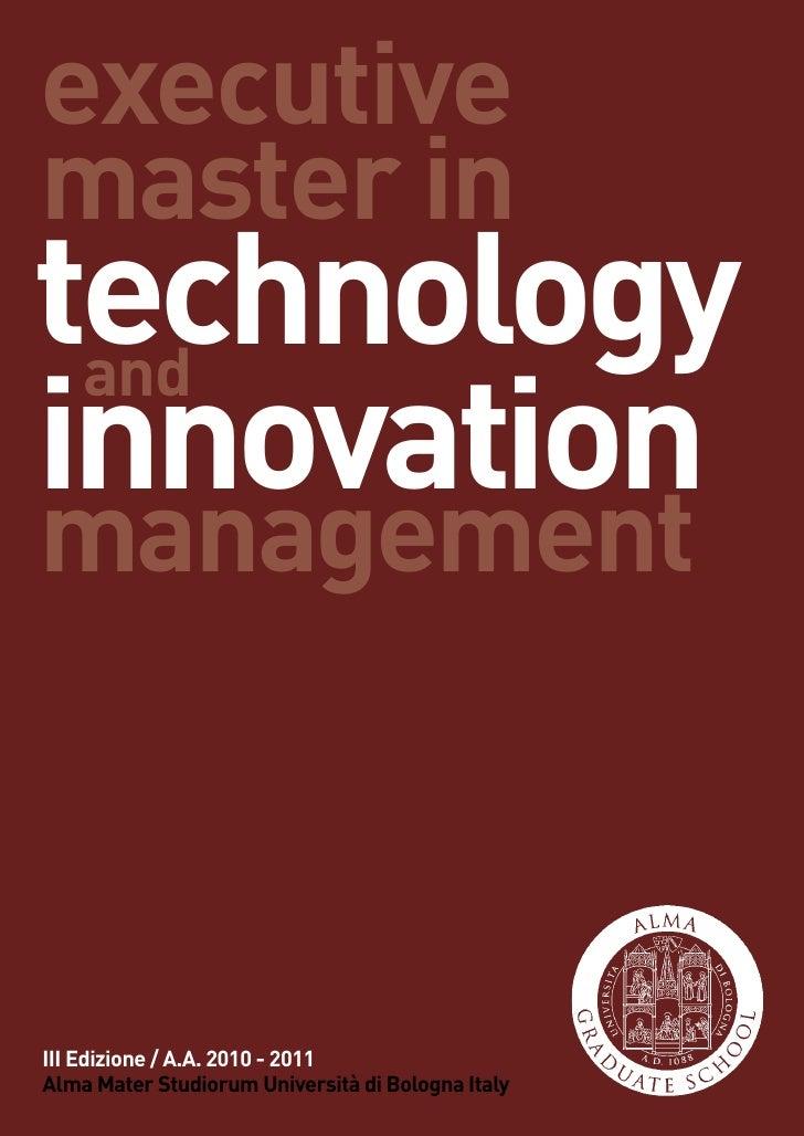 Technology Management Image: Emtim3 2010