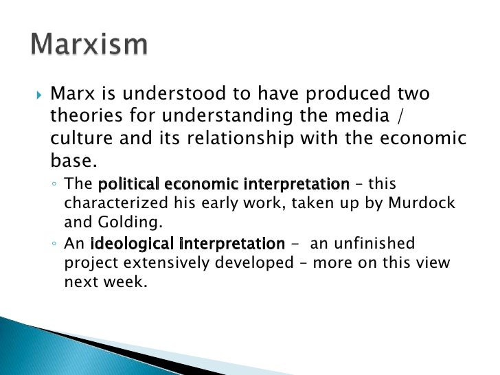 An analysis of the marxism and economic theory