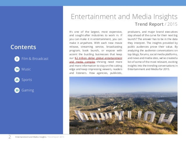 Entertainment and Media Insights Trend Report for 2015 in US Slide 2