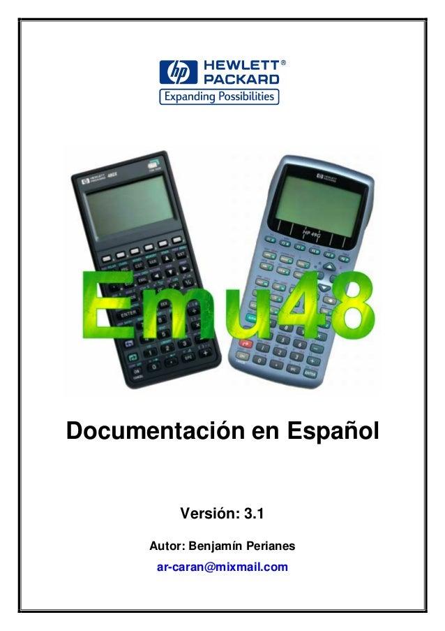 Documentación en EspañolVersión: 3.1Autor: Benjamín Perianesar-caran@mixmail.com