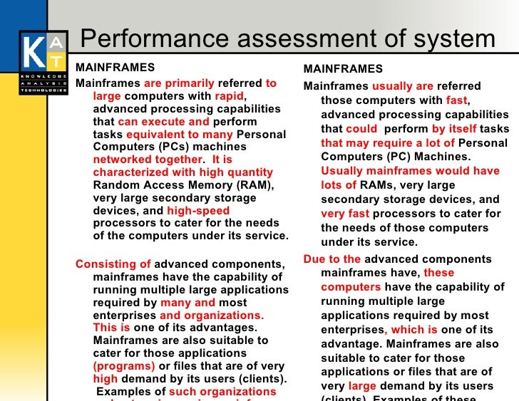 mainframes vs pcs essay • it department transformation (focus on innovation vs  paradigms, from dummy terminals/mainframes, to pcs, networking computing, to grid and cloud computing.
