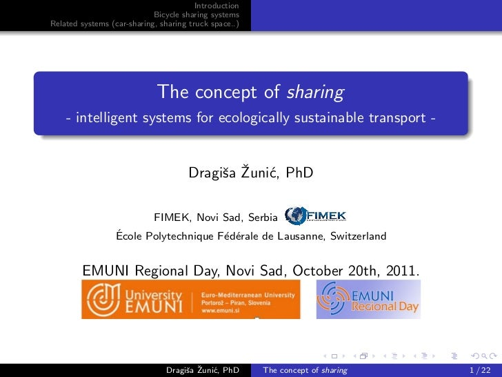 Introduction                            Bicycle sharing systemsRelated systems (car-sharing, sharing truck space..)       ...