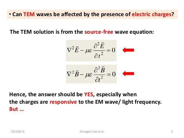 On the Possibility of Manipulating Lightwaves  via Active Electric Charges Slide 3