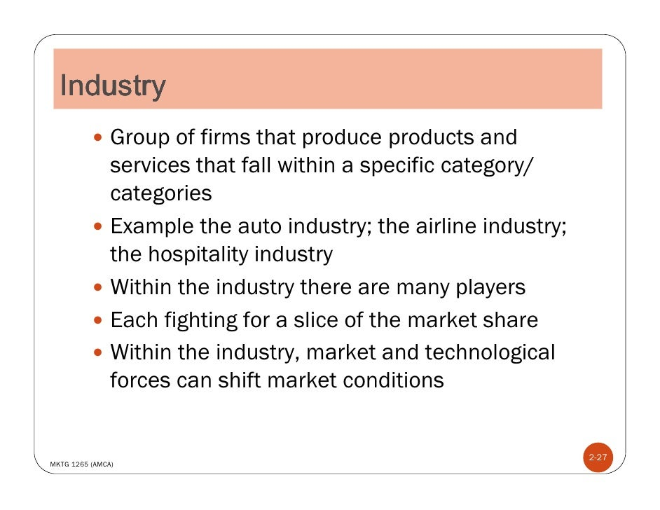 Industry ...  Industry Analysis Example