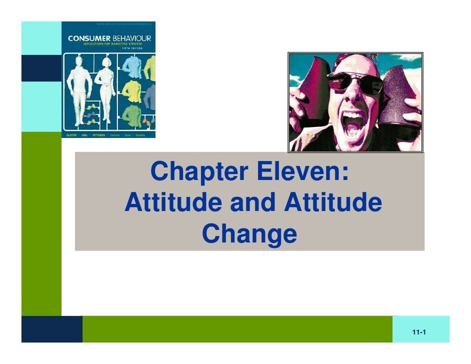 BB Chapter Eleven : Attitude and Attitude Change