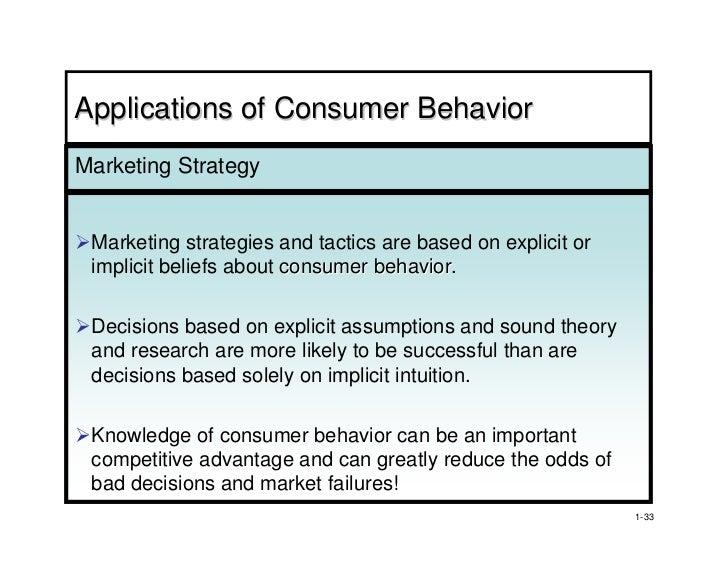 Consumer Behaviour Implications For Marketing Strategy Pdf