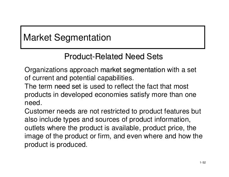 product related segmentation examples