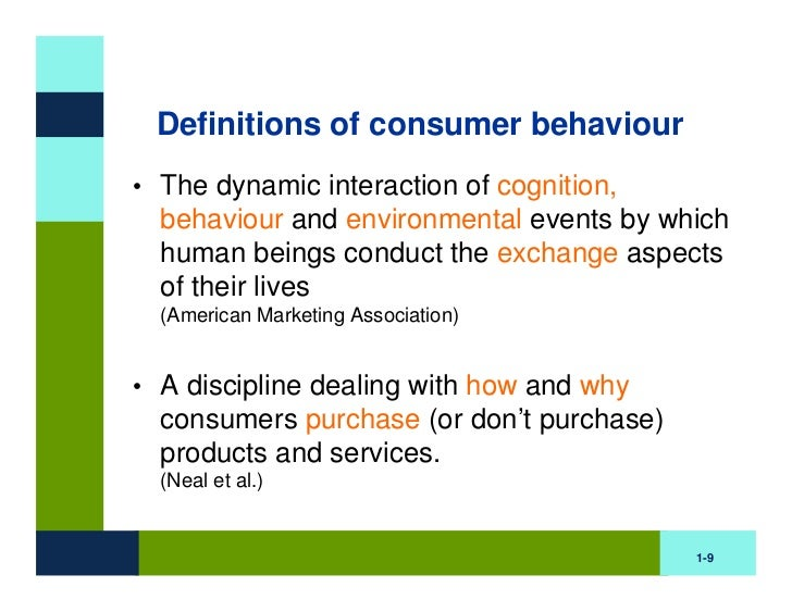 a definition of consumer behavior