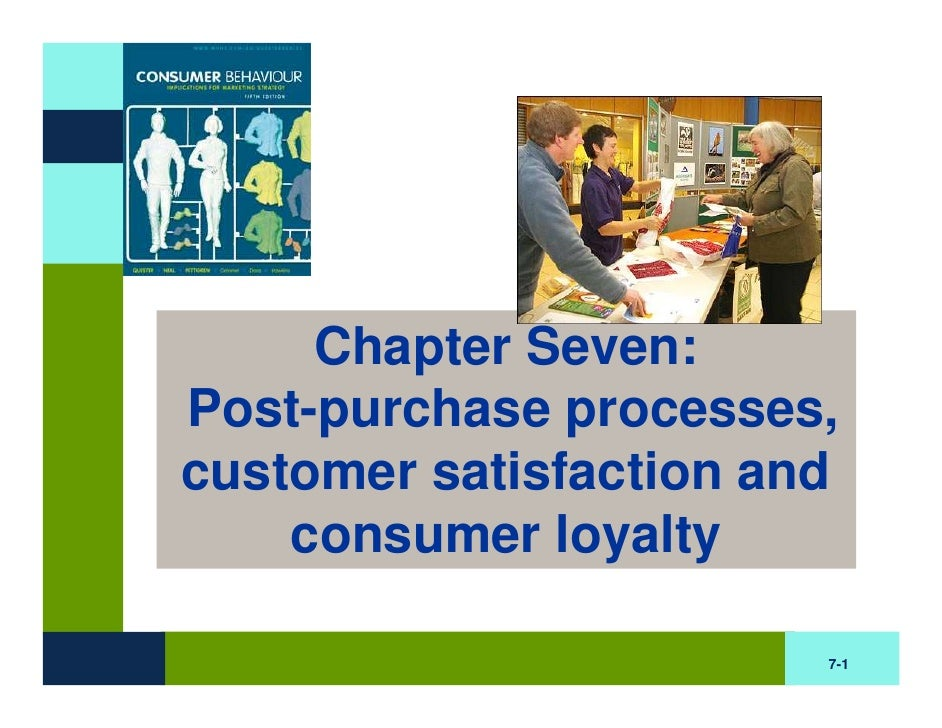 Chapter Seven: Post-purchase processes, customer satisfaction and     consumer loyalty                          7-1