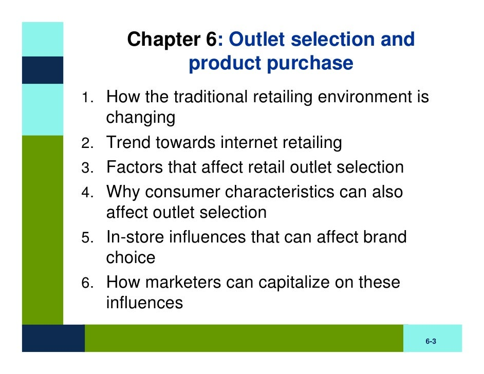 BB Chapter Six: Outlet Selection and Purchase Slide 3