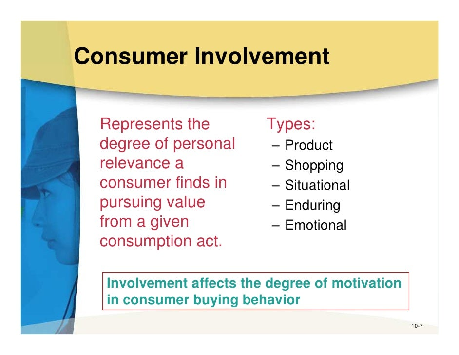 consumer involvement theory Consumer involvement in the decision  the consumer decision-making process involves five steps that  understanding the consumer decision-making.