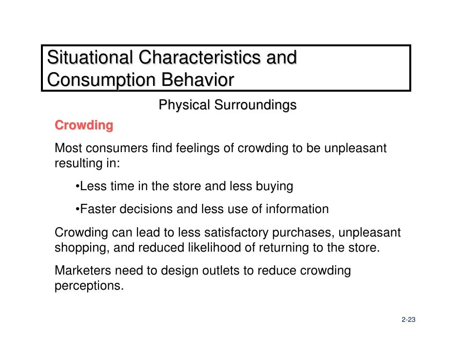 impact of shopper store and situational Impact of store format on shopping involvement  some have also found relationships between situational and enduring relationship  a store, a shopper goes .