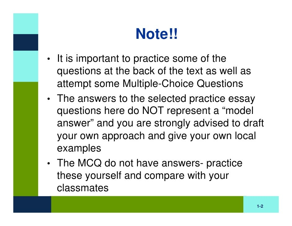 BB Practice Questions (Part One: Chapters 1-7)
