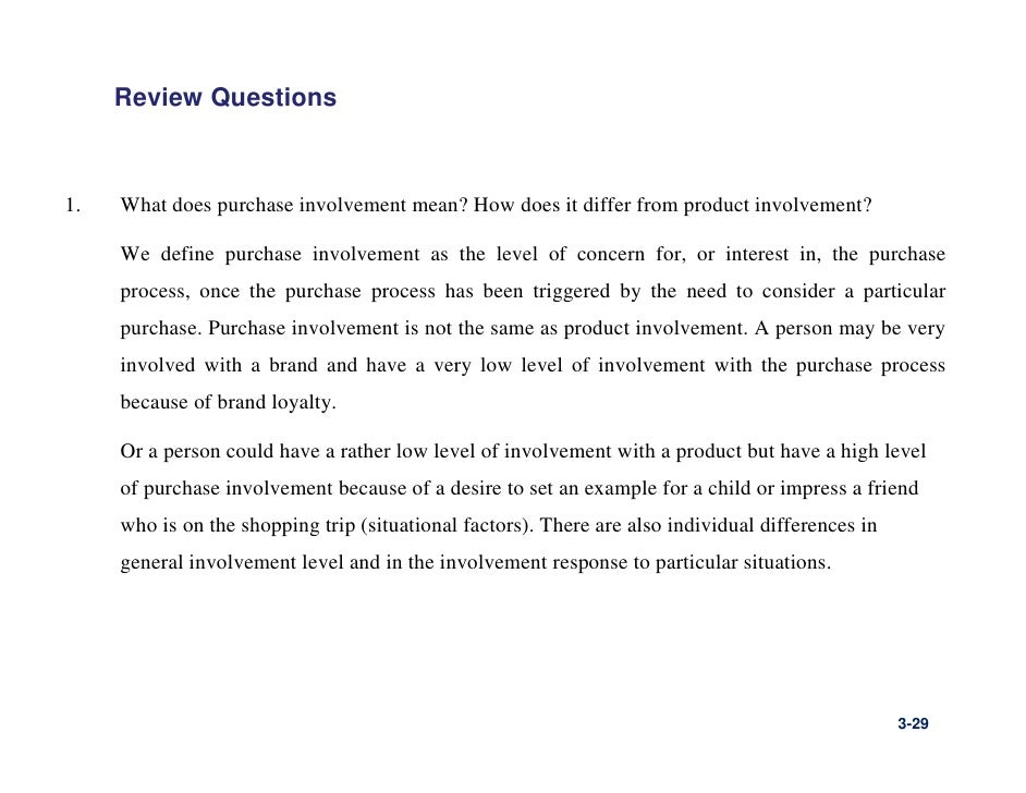 consumer behaviour in the purchase of high and low involvement essay Buying behavior & market analysis (essay sample)  one must be a high involvement purchase, and one a low involvement purchase  process in the model of consumer .