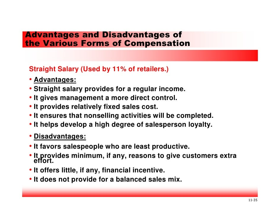 compensation advantages and disadvantages