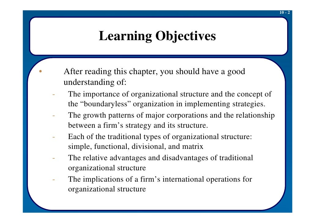 organizational structure 2 essay