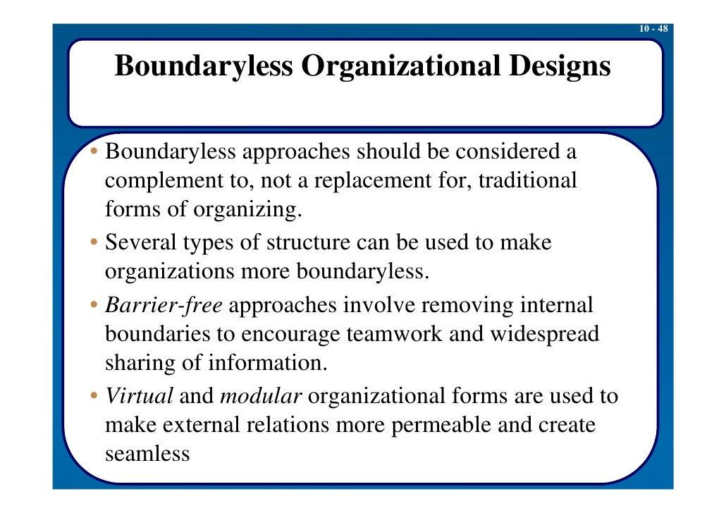 description of a boundaryless organization