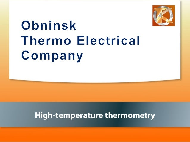 High-temperature thermometry