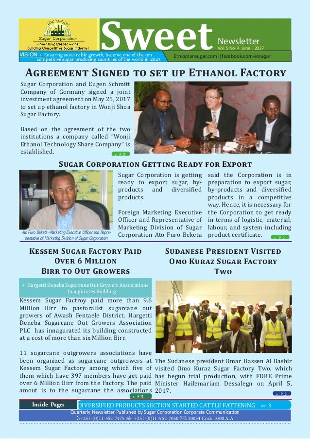 Ethiopian Sugar Corporation Newsletter (Sweet ) - Vol  5 No