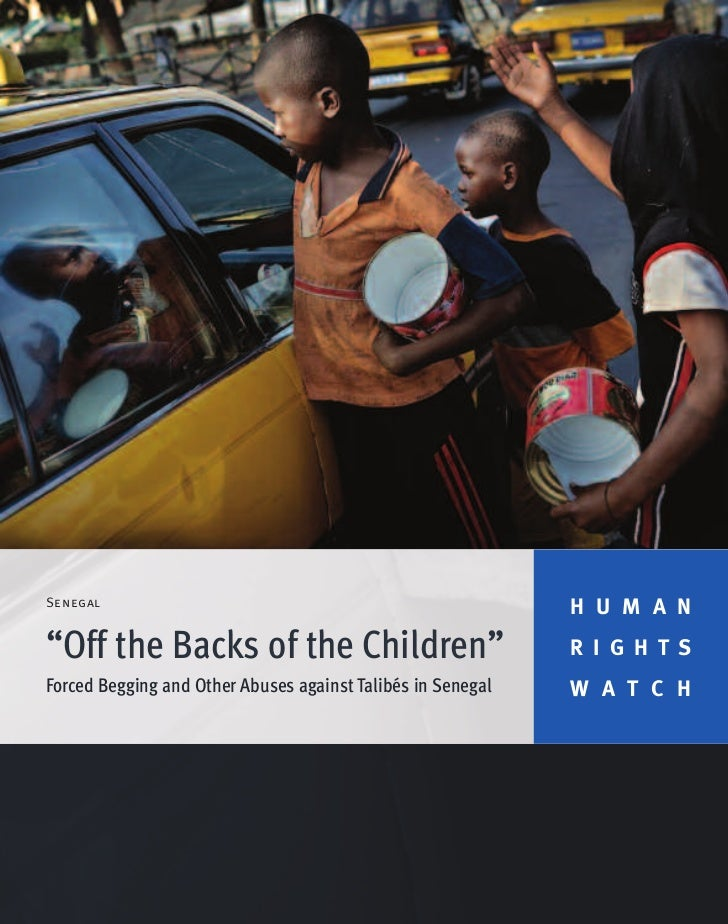 "Senegal                                                             H U M A N""Off the Backs of the Children""              ..."