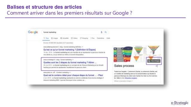 Balises et structure des articles Comment arriver dans les premiers résultats sur Google ?