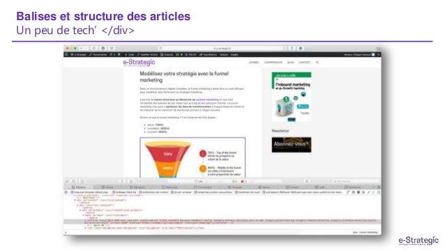 Balises et structure des articles Un peu de tech' </div>