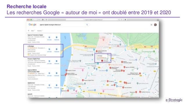 Recherche locale Les recherches Google « autour de moi » ont doublé entre 2019 et 2020
