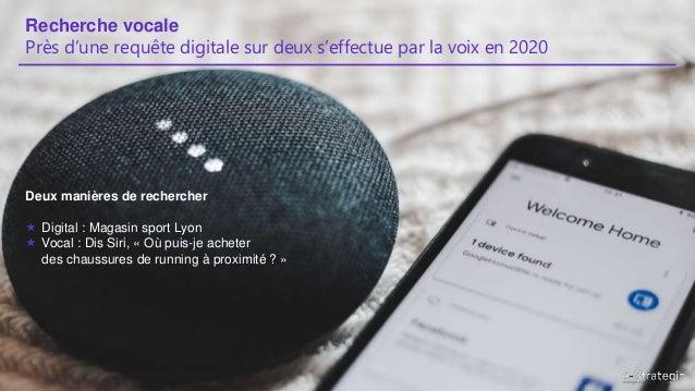 Recherche vocale Près d'une requête digitale sur deux s'effectue par la voix en 2020 Deux manières de rechercher  Digital...