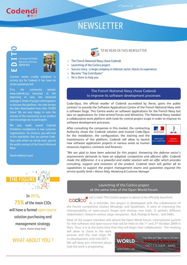 3rd quarter 09   page 1                                                            NEWSLETTER EDITO                       ...