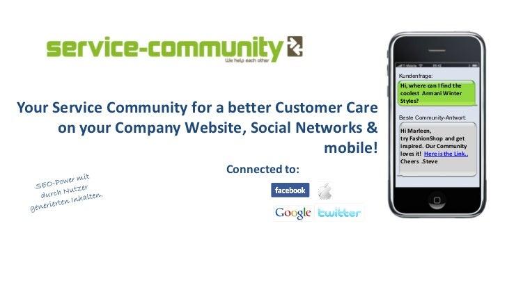 service-community customer care