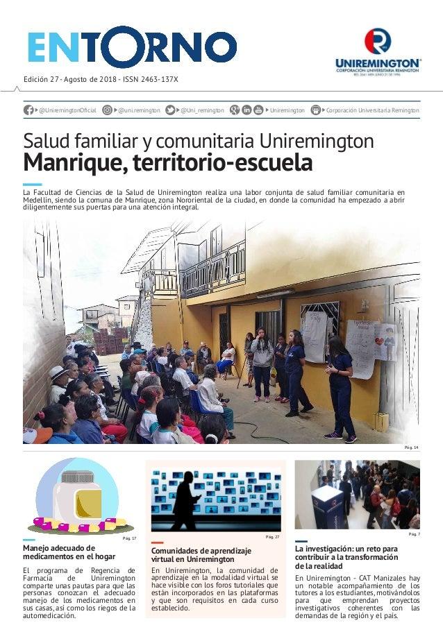 Periódico Entorno Uniremington Agosto 2018