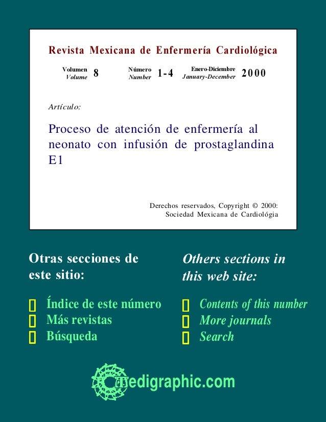 Revista Mexicana de Enfermería Cardiológica      Volumen       Número           Enero-Diciembre       Volume   8   Number ...