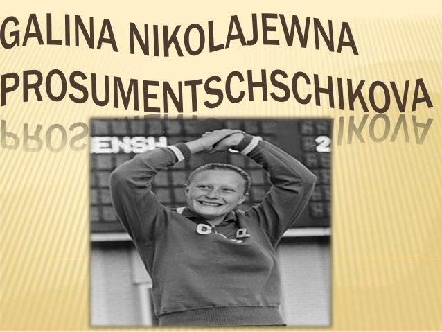       Galina Nikolajewna Prosumentschschikova -Russisch Sportler, Flosse. Verdienstvoller Meister des Sports SSSR. Mei...