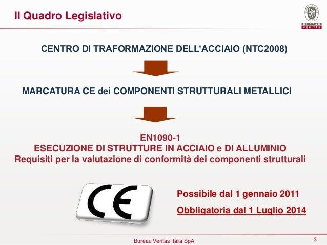 La marcatura dei componenti strutturali in acciaio secondo la EN 1090-1 e il CPR 305/2011 Slide 3